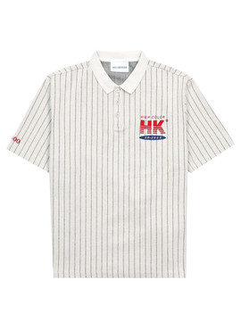 Han Kjobenhavn Polo T Shirt Pinstripe White by 5 Pointz