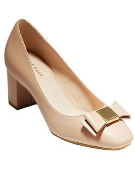 Cole Haan Tali Bow Leather Pump by Cole Haan