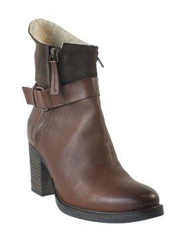 Cognac &Amp; Brown Bestie Waterproof Leather Boot   Women by Bos. &Amp; Co.