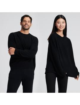 The Luxe Unisex Cashmere Sweater Black by Naadam