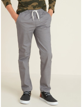 Relaxed Slim Built In Flex Pull On Pants For Boys by Old Navy