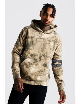 Sweat à Capuche En Polaire Camouflage Avec Bande Man by Boohoo