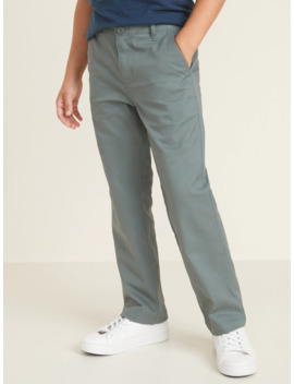 Uniform Straight Built In Flex Khakis For Boys by Old Navy