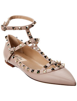 Valentino Rockstud Caged Leather Ballerina Flat by Valentino