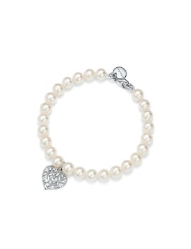 Paloma Picasso®        Olive Leaf Pearl Heart Bracelet by Paloma Picasso®
