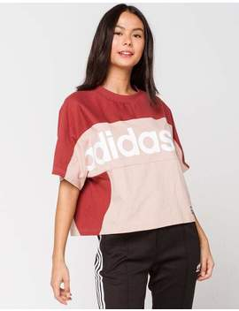 Adidas Burnt Red Womens Crop Tee by Adidas