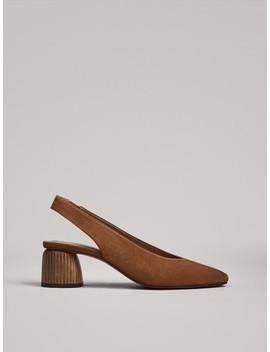 Sapato Com TacÃo De Madeira Tipo Mule by Massimo Dutti