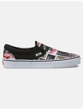 Vans Label Mix Classic Slip On Shoes by Vans