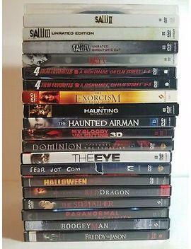 Lot Of 20 Horror Movies Dvd Halloween Nightmare On Elm Street Jason Saw Exorcism by Ebay Seller