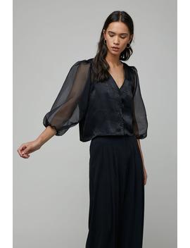 Sheer Sleeve Blouse 4431 by Oak + Fort