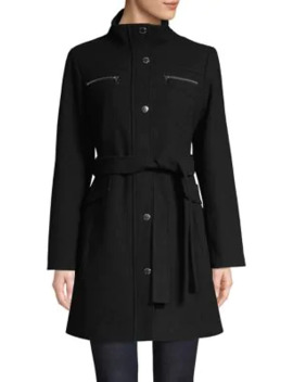 Belted Wool Blend Coat by Vince Camuto