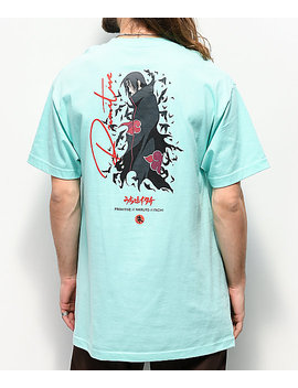 Primitive X Naruto Crows Mint Blue T Shirt by Zumiez