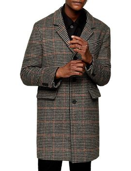 Houndstooth Overcoat by Topman