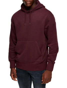 Long Sleeve Marl Peached Hoodie by Topman