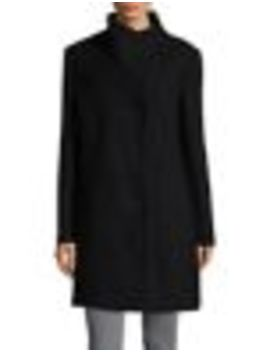 Stand Collar Wool Blend Coat by Kenneth Cole New York