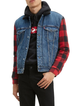 Regular Fit Hybrid Cotton Trucker Jacket by Levi's