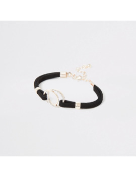 Girls Black Circle Bracelet by River Island
