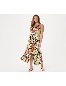 Susan Graver Petite Printed Liquid Knit Maxi Dress by Your Backyard To The Beach And Anywhere In Between From Susan Graver. Page 1