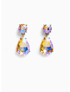 Iridescent Rhinestone Teardrop Statement Earrings by Torrid