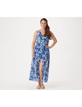 Du Jour Petite Sleeveless Printed Romper W Skirt Overlay by Vacays To Girls' Day, This One Piece Wonder's Got Your Spring And Summer Covered (Literally!) The Petite Romper's Flowy Skirt Overlay Conceals Comfy Relaxed Fit Shorts.