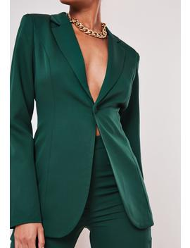 Tall Green Co Ord Skinny Blazer by Missguided