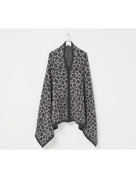 Barefoot Dreams Cozychic Leopard Poncho by Jeans To Dress Pants