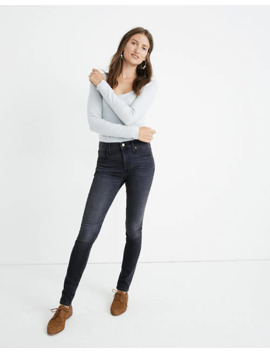 """Petite 9"""" Mid Rise Skinny Jeans In Clarksville Wash by Madewell"""