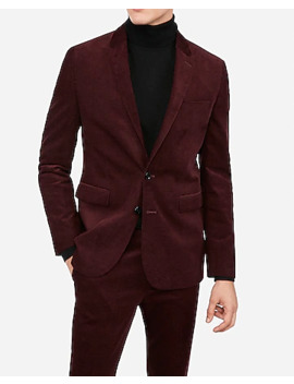 Extra Slim Burgundy Corduroy Suit Jacket by Express