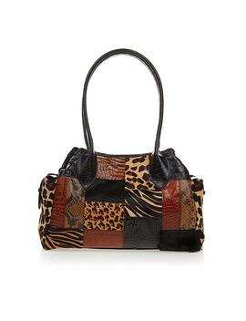 Clever Carriage Artisan Leather Patchwork Satchel   Limited Quantity by Clever Carriage Home