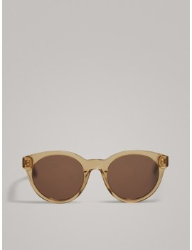 Resin Round Sunglasses by Massimo Dutti