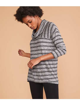 Lou &Amp; Grey Striped Brushmarl Cowl Top by Loft