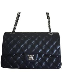 Flap Classic Black Lambskin Leather Shoulder Bag by Chanel