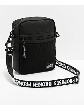 Broken Promises Side Black Shoulder Bag by Zumiez