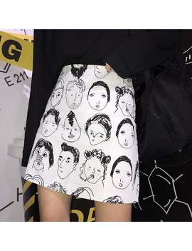 Character Cartoon Print Skirt by Dog Dog