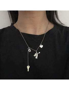 Cupid Shooter Lock Heart Necklace by Dog Dog
