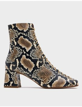 Becca Ankle Boot In Snake Print by By Farby Far
