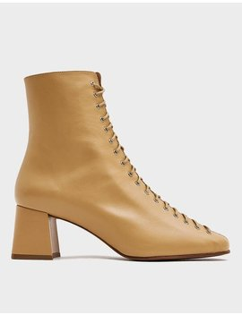 Becca Ankle Boot In Cream by By Farby Far
