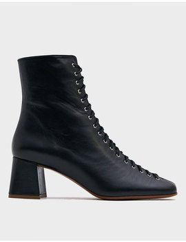 Becca Ankle Boot In Black Leather by By Farby Far