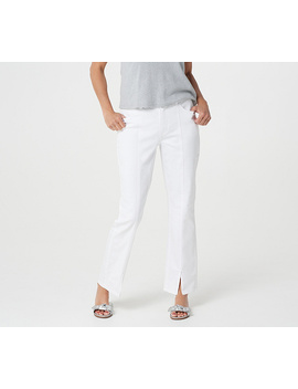Lisa Rinna Collection White Denim Jeans With Seam Detail by The Lisa Rinna Collection