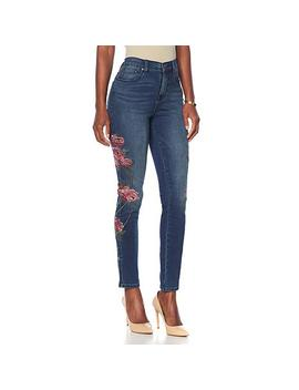 """<Span Class=""""Callout Exclusive"""">Exclusive!</Span>                  Dg2 By Diane Gilman Virtual Stretch Floral Stitched Jean by Diane Gilman"""