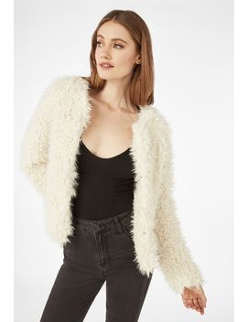 Open Front Faux Fur Jacket by Justfab