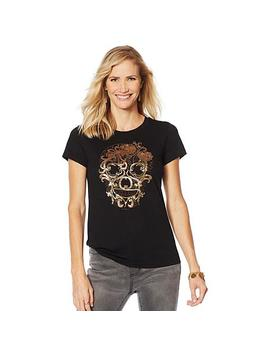 """<Span Class=""""Callout Exclusive"""">Exclusive!</Span>                  Sheryl Crow Beaded Skull Tee by Sheryl Crow"""
