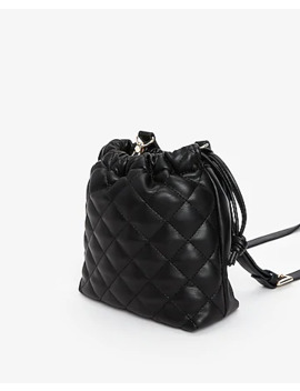Quilted Bucket Bag by Express