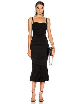 Ruched Flounce Dress by Dolce & Gabbana