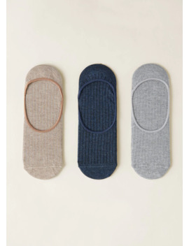 Pack Calcetines Invisibles Canalé by Mango