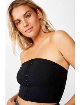 Alice Hook And Eye Tube Top by Cotton On
