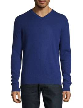 Cashmere V Neck Sweater by Black Brown 1826