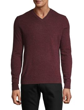 V Neck Cashmere Sweater by Black Brown 1826