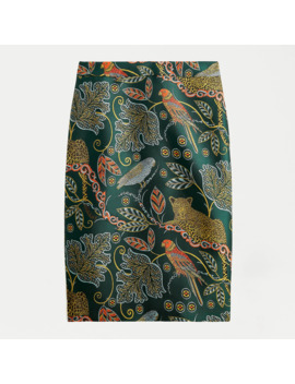 No. 2 Pencil® Skirt In Ornate Jungle Print by No. 2 Pencil