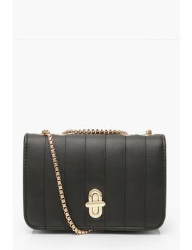 Quilted Lock & Chain Cross Body Bag by Boohoo